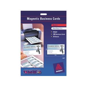 Avery Magnetic Business Cards 10Up 10 Sheet 90X52mm
