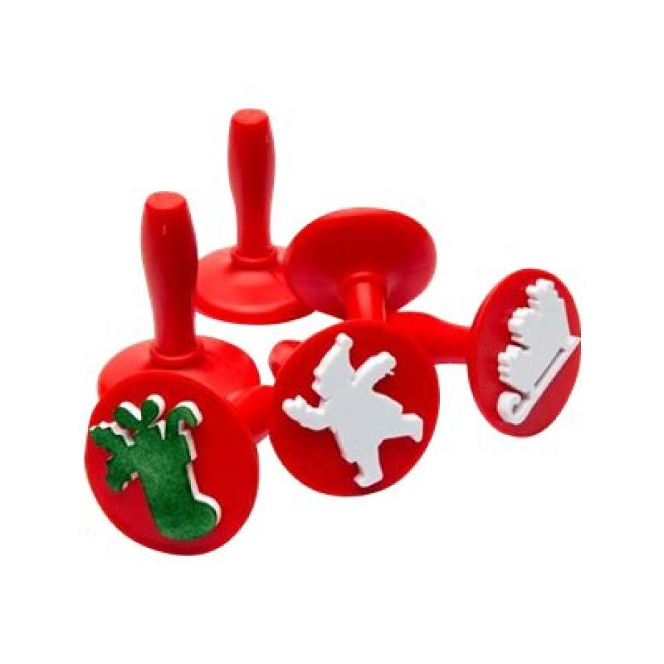 Educational Colours Paint Stampers Christmas Set 6