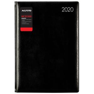 Milford Sorrento 2020 DIary A4 Day to Page Black
