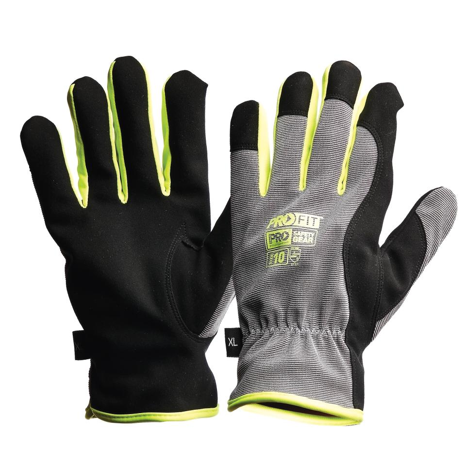 Pro-fit Riggamate Silver Synthetic Leather Gloves Xl Pair