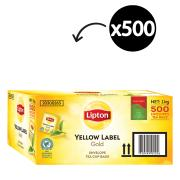 Lipton Yellow Label Gold Black Enveloped Tea Bags Carton 500