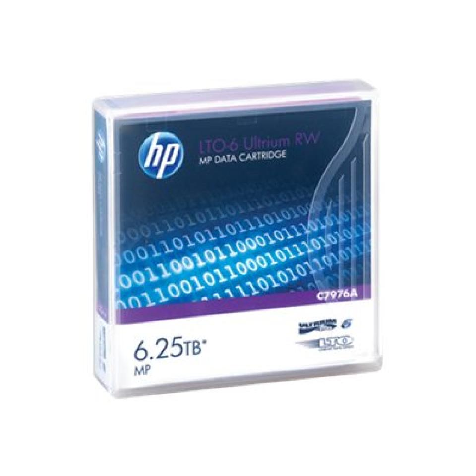 HP LTO-6 Ultrium 6.25 TB RW MP Data Cartridge - C7976A