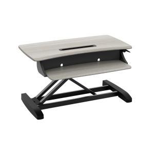 Workfit-Z Mini Sit Stand Desktop Wood Grain Finish