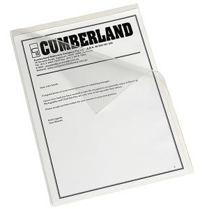 Cumberland Letter File Om653gc Open 2 Sides A4 Clear Heavy Duty Each