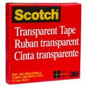 Scotch Transparent Tape 600 12.7mm X 65.8m
