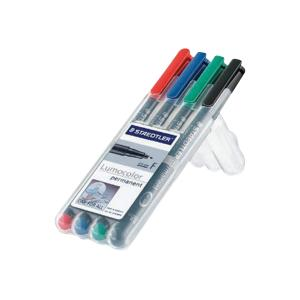 Staedtler Lumocolor Universal Permanent OHP Pen Fine Set 4