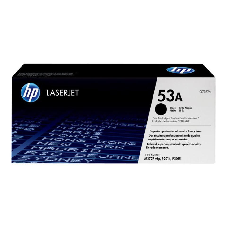 HP LaserJet 53A Black Toner Cartridge - Q7553A