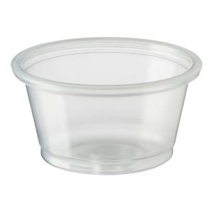 Castaway Portion Control Container Small 0.75Oz 22ml Clear Pack 250