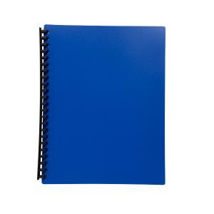 Officemax A4 Refillable Display Book 20 Pocket Blue