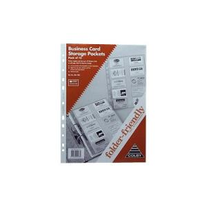 Colby Business Card Pocket Clear Pack 10