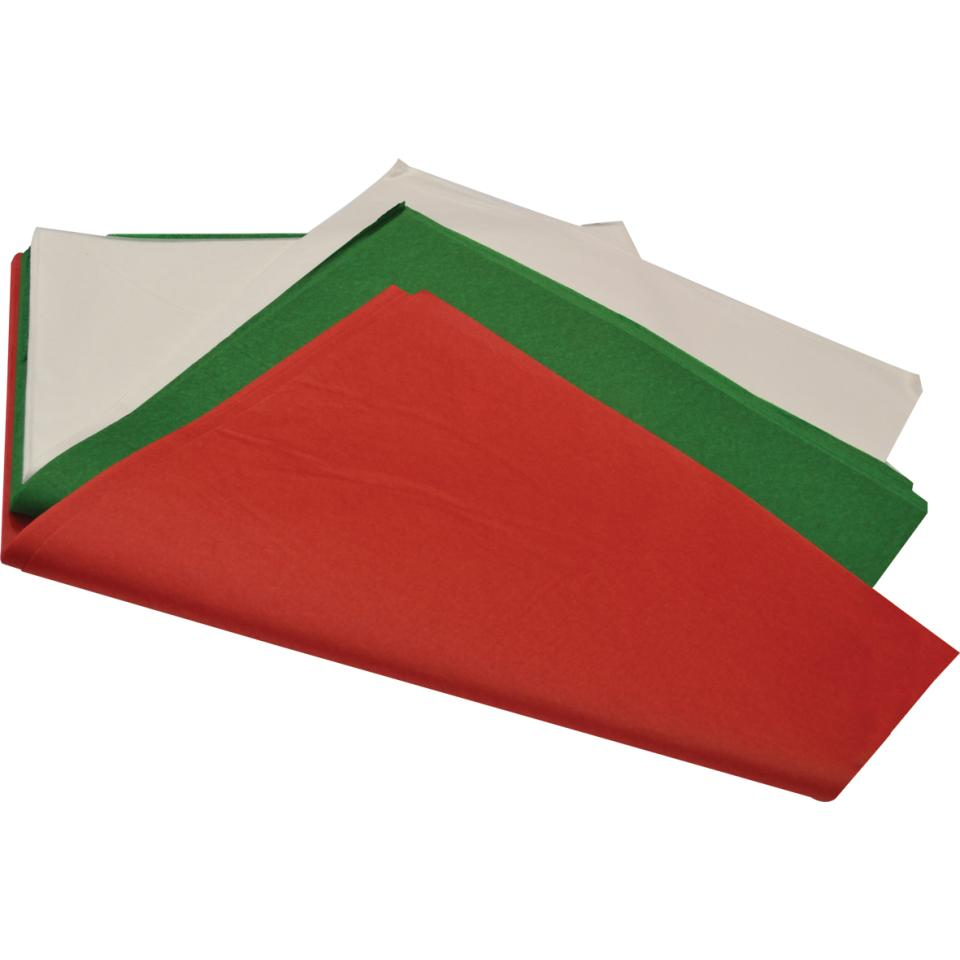 Rainbow 17gsm Acid Free Tissue Paper 500mm X 750mm  Xmas Assorted Colours 360 Sheets /Ream
