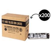 Austar Bin Liners All Purpose 140 Litre Black Roll 25 Carton 200