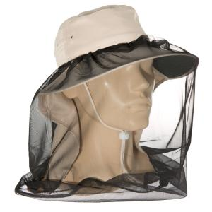 Head Net Fly/Mosquito attachment to wide brim hats or hard hats