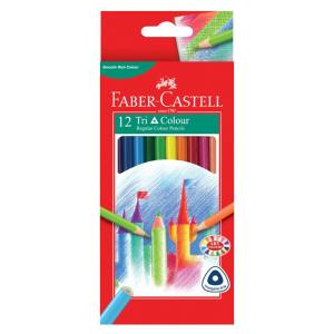 Faber-castell Tri-colour Coloured Pencils 3.0mm Pack Of 12