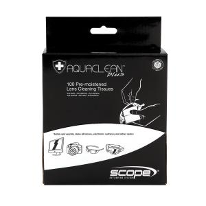Ac100 - Aquaclean Plus Spectacle Cleaning Wipes Box 100 Lens Cleaner With Anti-Bacterial Properties