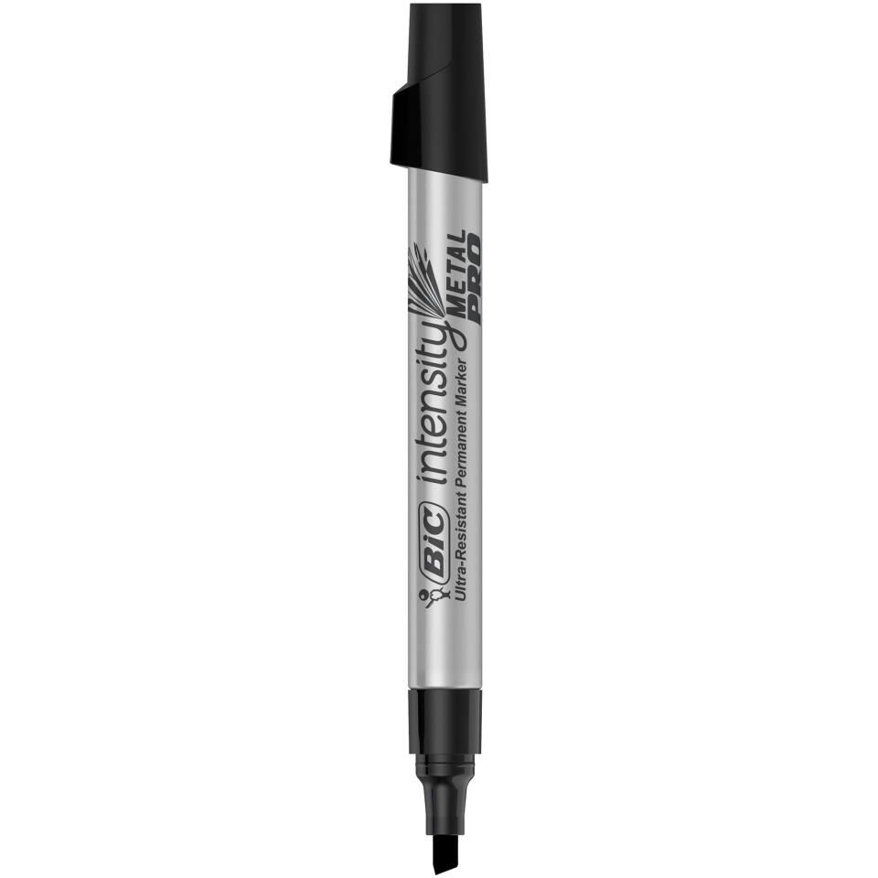 BIC Intensity Metal PRO Permanent Marker Chisel Black Each