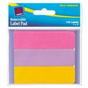 Avery Label Pad 25.4X76.2mm Neon Hot