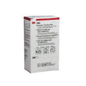 3m 504 Respirator Cleaning Wipes Box 100 Image