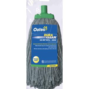 Oates Duraclean MH-DC-01G 400g Premium Textile Mop Head Green