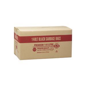 Austar Bin Liner  Premium Extra Heavy Duty Black 140 Litre Carton 200