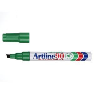 Artline 90 Permanent Marker Chisel Tip 2.0-5.0mm Green
