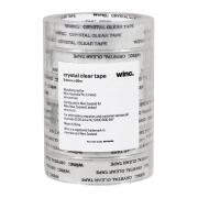 Winc Office Tape 24mm X 66m Crystal Clear Pack Of 6