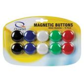 Quartet Whiteboard Magnetic Buttons 30mm Assorted Pack 10