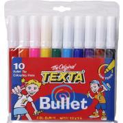 Texta Tx230/10 Marker Bullet Wallet 10