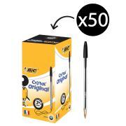 BIC Cristal Original Ballpoint Pen Medium 1.0mm Black Box 50