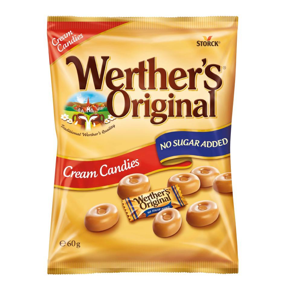 Werthers Original Sugar Free 60g Pack 12