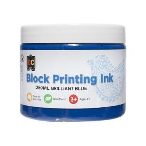 Educational Colours Block Printing Ink 250ml Blue