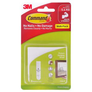 Command Medium Picture Hanging Strips 8 pk
