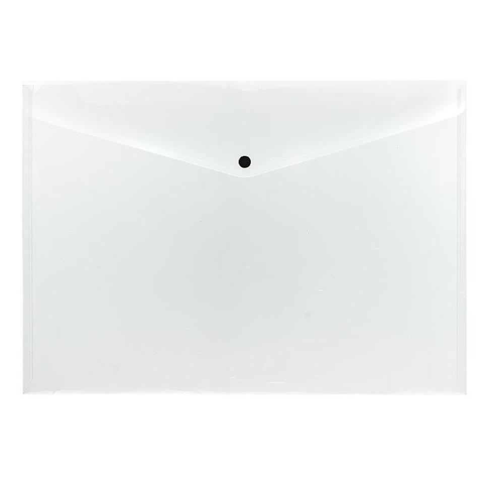 Beautone Document Folder With Button A3 Clear