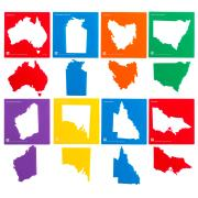 Educational Colours Australian Map/States Stencil Set 8