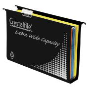 Crystalfile Suspension File Extra Wide Recyclable Black Pack 10