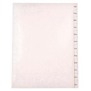 Marbig Dividers Polypropylene A4 White Jan-Dec 12 Tab