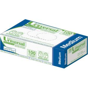 Universal Vinyl Powder Free Gloves Clear Medium Box 100
