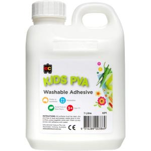 Educational Colours Kids Washable PVA Glue 1 Litre