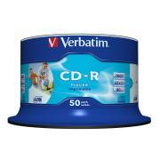 Verbatim Printable CD-R 700 MB / 52x / 80 Min - 50-Pack Spindle