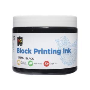 Educational Colours Block Printing Ink 250ml Black