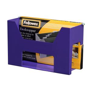 Fellowes Accents Desktopper With Files And Tabs Purple
