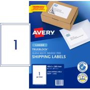 Avery Shipping Labels with TrueBlock for Laser Printers - 199.6 x 289.1mm - 20 Labels (L7167)