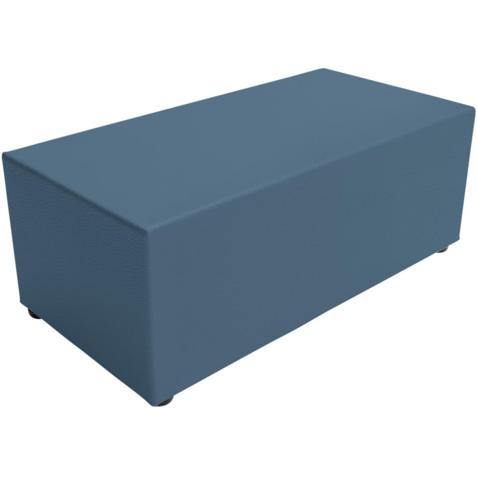 Sebel Little Softie Bloc Ottoman on Glides 350(h)x900(w)x450(d)mm Studio Encore Vinyl Wedgewood