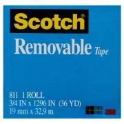 Scotch 811 Removable Tape 19mm x 33m