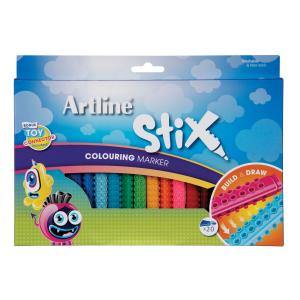 Artline Stix Coloured Marker Assroted Pack 20