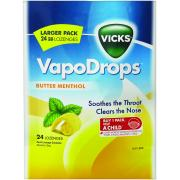Vicks Vapodrops Butter Menthol Pkt24
