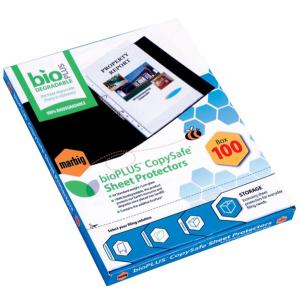 Marbig Sheet Protector Biodegradable A4 Clear Pack Of 100