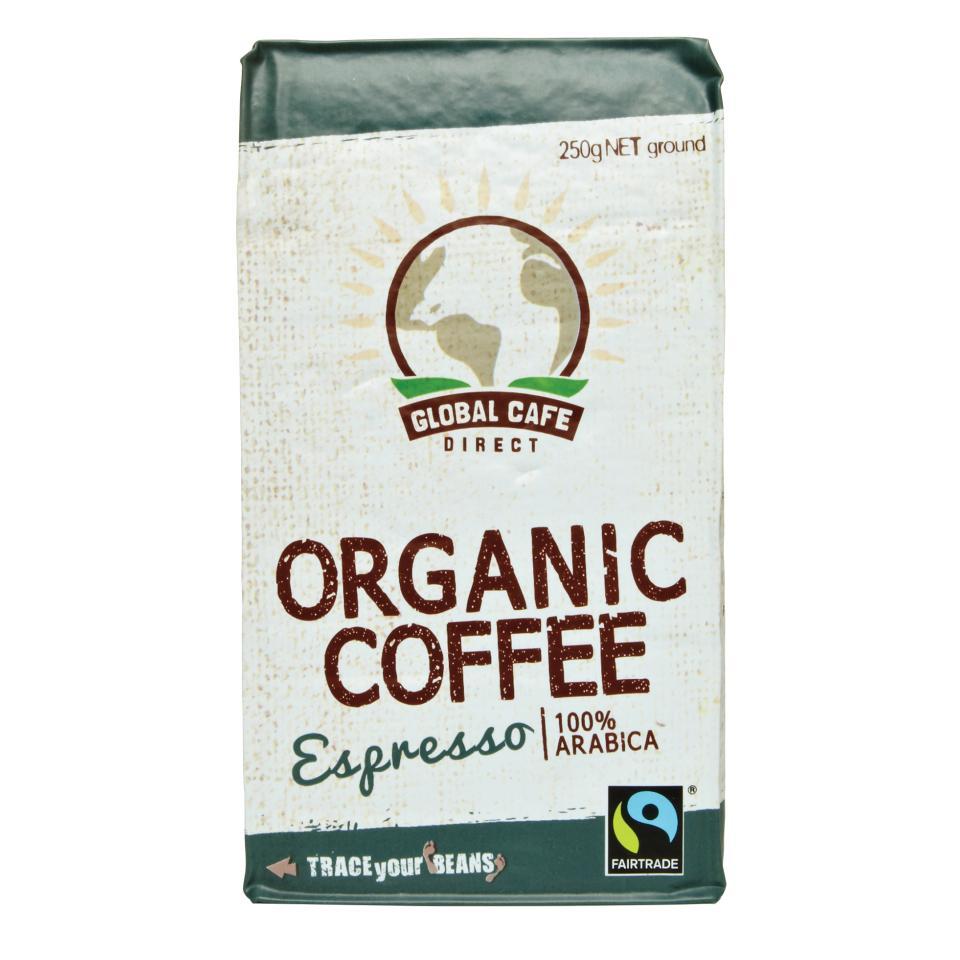 Global Cafe Direct Espresso Organic Ground Coffee 250g