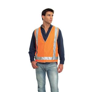 Elliotts Safety Vest Red/Orange Reflective Trim Style 8 Class Day/Night 4XL