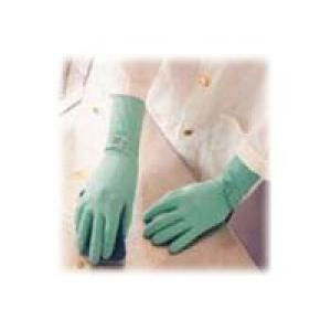 Ansell Neogreen 395 Flocklined Rubber Gloves Size 8.5-9 Image